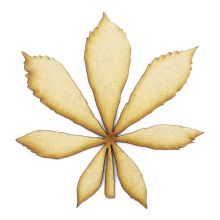 Horse Chestnut Leaf cut from 3mm MDF, Craft Blanks, Shapes, Tags, Autumn Leaf